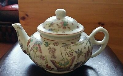 Vintage Chinese hand painted old teapot