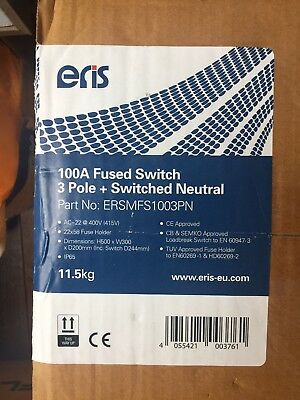Eris 100amp Fused Switch 3 Pole +switched Neutral