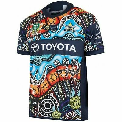 NQ Cowboys NRL 2018 ISC Indigenous Jersey Mens, Ladies & Kids Size In Stock
