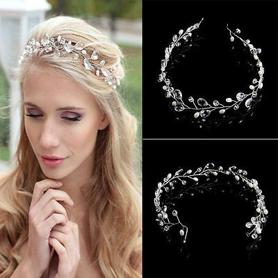 Faux Crystal Wedding Bridal hair Accessories Clip Tiara Headband 1