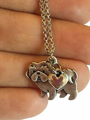 Shih Tzu Charm Necklace Shihtzu Pet Dog Lover Gift Stainless Steel Silver wit...