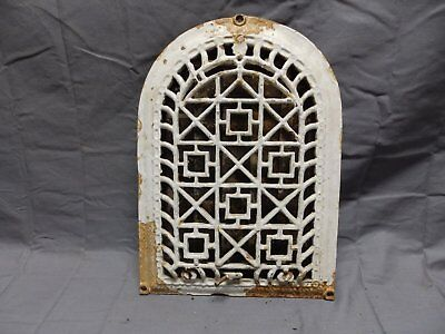 Antique Cast Iron Arch Dome Top Floor Register Heat Grate 14x10 Old Vtg 324-18P