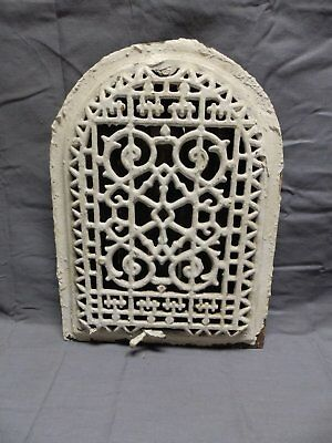 Antique Cast Iron Arch Dome Top Floor Register Heat Grate 13x10 Old Vtg 325-18P