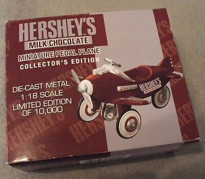 HERSHEY'S MILK CHOCOLATE MINIATURE 1:18 SCALE PEDAL PLANE, Limited Edition