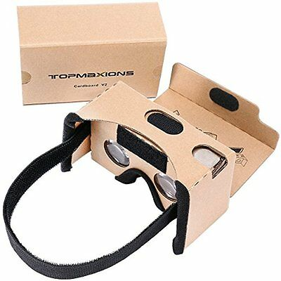 Google Cardboard,Topmaxions 3D VR Virtual Reality DIY Headset For Movies And & 6