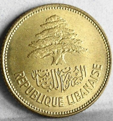 1952 Lebanon, 25 Piastres, Brilliant Uncirculated