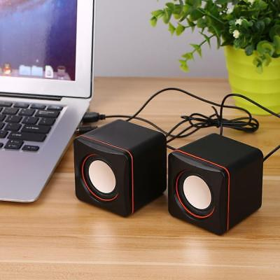 2PCS Mini Portable USB Audio Music Player Speakers for Mobile Phone MP3 Laptop