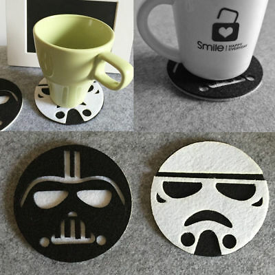 Anime Star Wars Cup Drinks Holder Coffee Felt Mat Tableware Placemat Pads 10cm