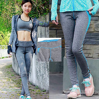 Women Yoga Fitness Leggings Running Sports Pants Gym Stretch Trousers Athletics
