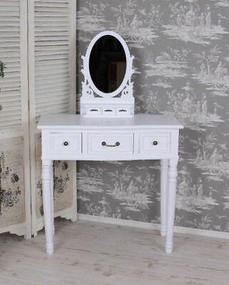 Mirror Table Make-Up Table Cottage Vanity White Vintage Dressing Table