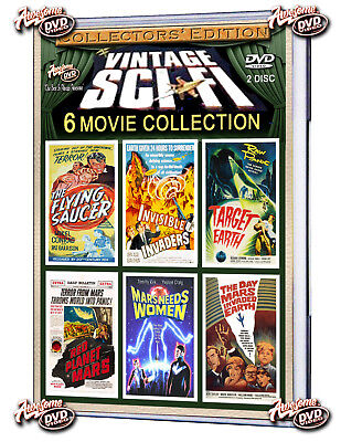 Sci-Fi Collection(Dvd)Target Earth 1954,invisible Invaders 1958- 2 Disc Set