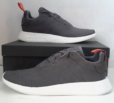 low priced e1ef5 1f3fa NEW MEN'S ADIDAS ORIGINALS NMD_R2 - BY3014 Grey Future Harvest Sneaker SZ  13 DS