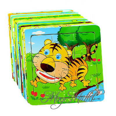 Superior wooden animal Puzzle Jigsaw Early Learning Baby Kids Educational Toys U