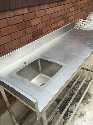 Commercial single Stainless Steel  Kitchen Chef Work Food Prep Bench w Shelf