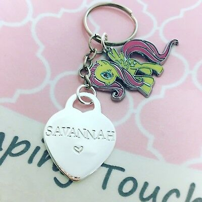 Personalised Hand Stamped Keyring - My Little Pony