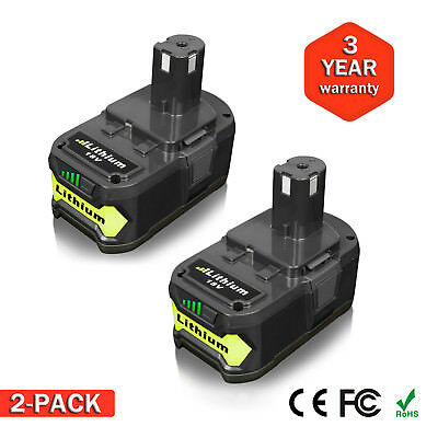 2PACK New For P108 Ryobi 18Volt 18V One Plus Lithium Ion Battery 5.0Ah