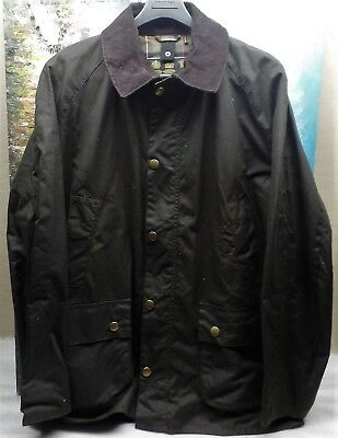 Barbour Ashby Waxed Medium Weight Wax Cotton Jacket - Size L - $399