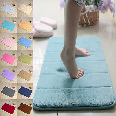 Bathroom Bedroom Floor Shower Mat Rug Non-slip Absorbent Soft Memory Foam NEW