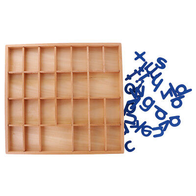 Montessori Movable Alphabets Box Kids Letter Words Learning Wooden Toy Gift