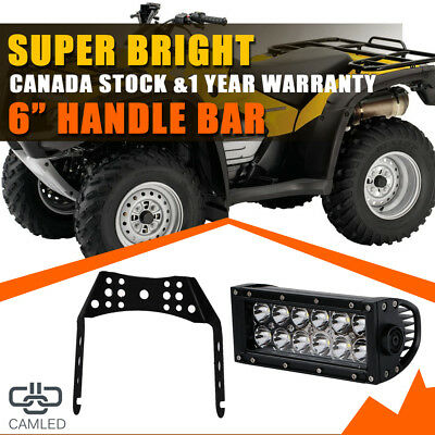 "6"" 36W Light Bar Universal ATV Handlebar Bracket Mount + For Suzuki Yamaha UTV"