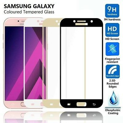 3D FULL COVER Tempered Glass Screen Protector for Samsung Galaxy A3 A5 A7 2017 v