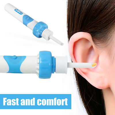 Electric Safe Cordless Vibration Remover Ear Wax Pick Cleaner Vacuum Painless