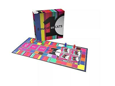 Esdevium Games 8 Out Of 10 Cats Board Game Fun Family Gift Tv Gameshow RRP £30