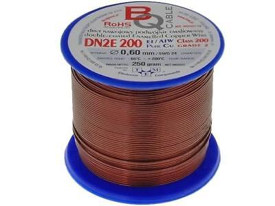 DN2E0.60/0.25 Coil wire double coated enamelled 0.6mm 0,25kg BQ CABLE
