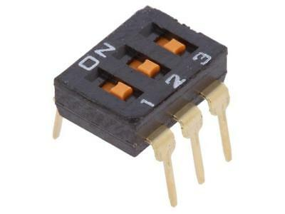 2x A6T-3101 Switch DIP-SWITCH Poles number3 ON-OFF 0.025A/24VDC 100MΩ  OMRON