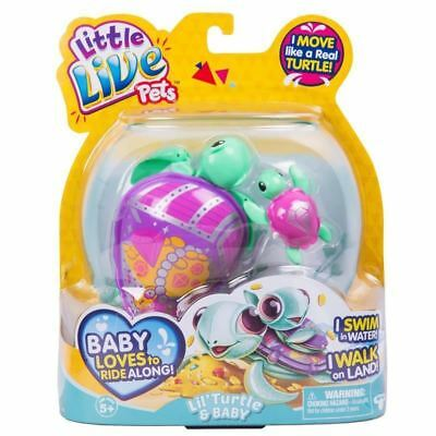 Little Live Pets Turtle Series 5 ~ Jules the Treasure Turtle & Baby