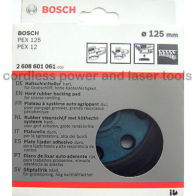 Bosch HARD Sanding Pad 125mm Rubber Base Plate PEX 12 125 A AE A-1 2608601061