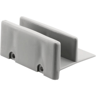 2 Plastic Shower Door Bottom Twin Track Guides For Keystone Tub Enclosures Gray