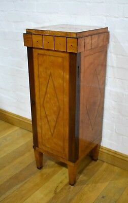 Antique style narrow pedestal side cabinet / bookcase cupboard / plant stand