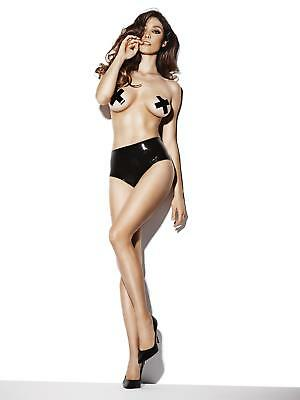 Ann Summers Womens Latex Crotchless Panty High Shine Brief Erotic Clothing