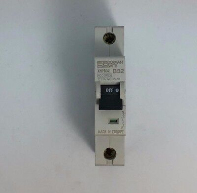 Dorman Smith X1PB32 32 Amp 32a Type B MCB 10kA 230v Single Pole MCB Breaker