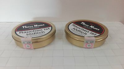 2 tins Three nuns Tobacco 50 Gr  Collectible Tins Unopened sealed rare