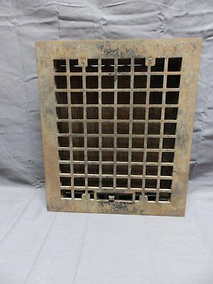 Antique Cast Iron Floor Wall Heat Grate 14x12 Louvres Arts Crafts Grill 331-18P