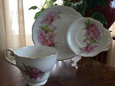 Vintage 1950s ROYAL STANDARD Fine Bone China England Sandwich Snack Set, Exc!