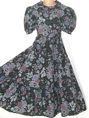 Laura Ashley Vintage Mother&child Camellia Winter Rose Occasion Dress,7-8 Years