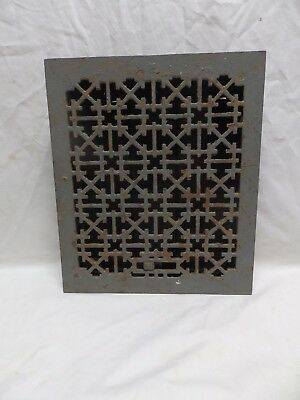 Antique Cast Iron Floor Wall Heat Grate 14x12 Decorative Design Register 338-18P