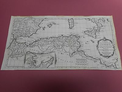 100% Original North Africa Chart  Map By Danville Du Roi   C1738  Low Postage