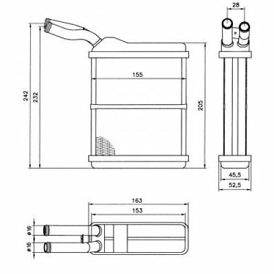 NRF Heat Exchanger, Interior Heating 52134