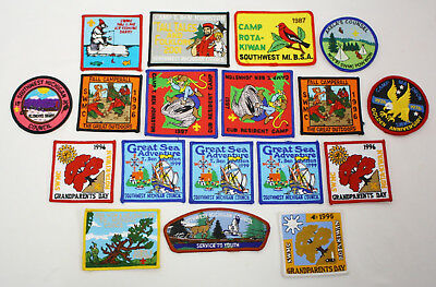 18 NEW Vintage Southwest Michigan Council BSA Embroidered Patches - Mostly 1990s