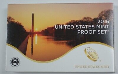 2016 US Full Proof Set Mint Issued 13 Gem Coins Total In Original Govt Packaging