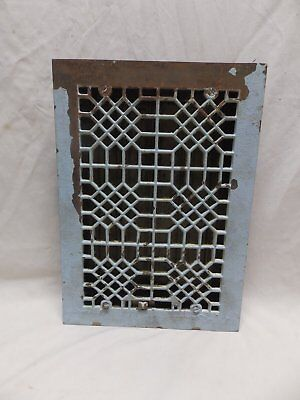 Antique Cast Iron Floor Heat Grate Register 14x10 Honeycomb Vent Vtg Old 340-18P