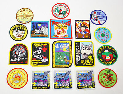 18 NEW Vintage Boy Scout BSA Embroidered Patches - Varied BSA Districts Councils