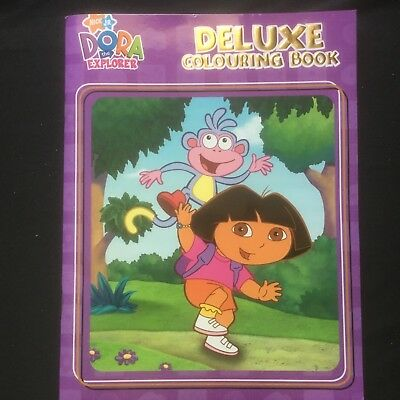 Dora The Explorer Delux Colouring Book Brand New 21 X 27 Cms