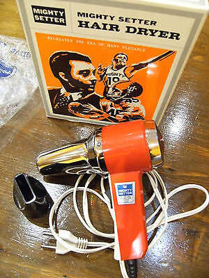 Antiguo Secador  De Pelo Vintage Mighty Setter Hair Dryer Peluqueria Peluquero