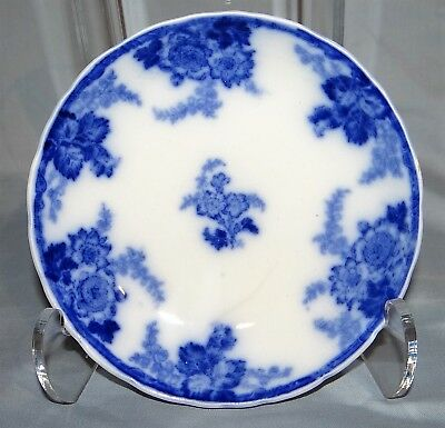 "Antique Flow Blue Royal Cauldon England MESSINA Fruit Dessert 6"" Bowl Floral"