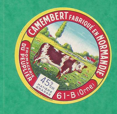 ORNE   ETIQUETTE CAMEMBERT vache  MANTILLY PEUPLIER